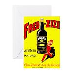 Fred-Zizi Aperitif Greeting Cards