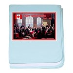 Canadian Sesquicentennial Print baby blanket