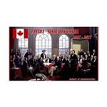 Canadian Sesquicentennial Print Decal Wall Sticker