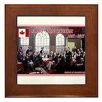 Canadian Sesquicentennial Print Framed Tile