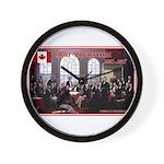 Canadian Sesquicentennial Print Wall Clock
