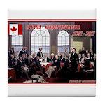 Canadian Sesquicentennial Print Tile Coaster
