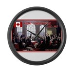 Canadian Sesquicentennial Print Large Wall Clock