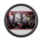Canadian Sesquicentennial Print Large Wall Clock