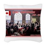 Canadian Sesquicentennial Print Woven Throw Pillow