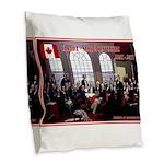 Canadian Sesquicentennial Print Burlap Throw Pillo