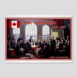 Canadian Sesquicentennial Print 5'x7'Area Rug