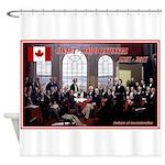 Canadian Sesquicentennial Print Shower Curtain
