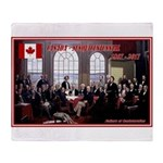 Canadian Sesquicentennial Print Throw Blanket