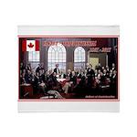 Canadian Sesquicentennial Print Throw Blanket