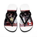 Canadian Sesquicentennial Print Flip Flops