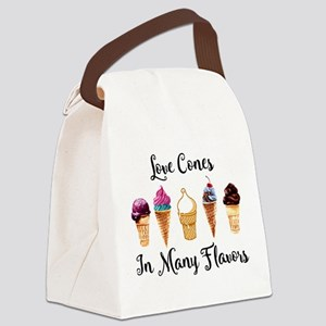 Love Cones In Many Flavors Canvas Lunch Bag