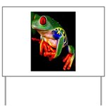 Colorful Frog Yard Sign