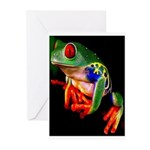 Colorful Frog Greeting Cards