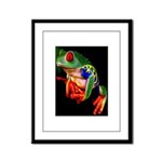 Colorful Frog Framed Panel Print
