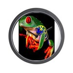 Colorful Frog Wall Clock