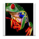 Colorful Frog Tile Coaster