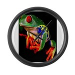 Colorful Frog Large Wall Clock