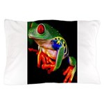 Colorful Frog Pillow Case