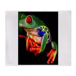 Colorful Frog Throw Blanket