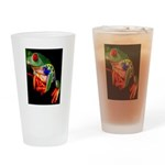 Colorful Frog Drinking Glass