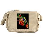 Colorful Frog Messenger Bag