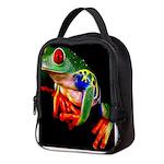 Colorful Frog Neoprene Lunch Bag