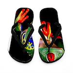 Colorful Frog Flip Flops