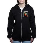 Colorful Frog Women's Zip Hoodie