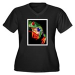 Colorful Frog Plus Size T-Shirt