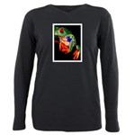 Colorful Frog Plus Size Long Sleeve Tee