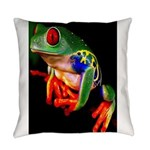 Colorful Frog Everyday Pillow