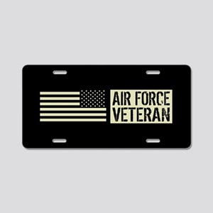 U.S. Air Force: Veteran (Bl Aluminum License Plate