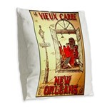 New Orleans Burlap Throw Pillow