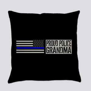 Police: Proud Grandma (Black Flag, Everyday Pillow