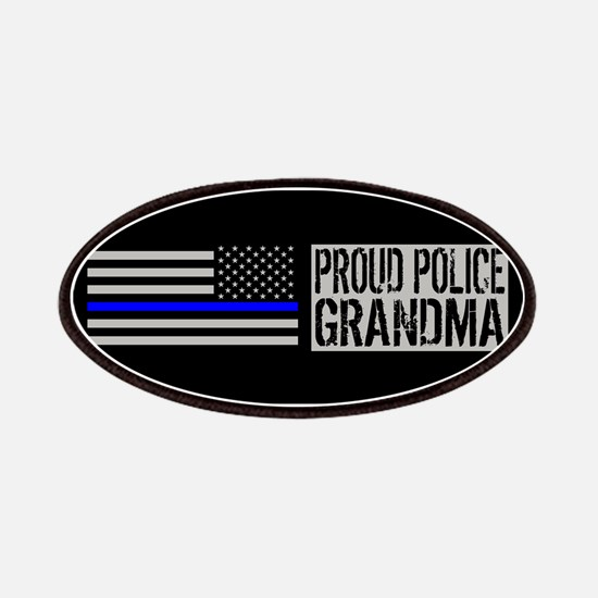 Police: Proud Grandma (Black Flag, Blue Line Patch