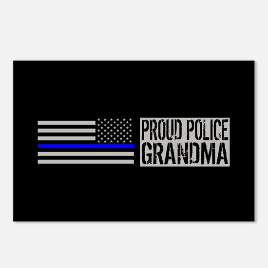 Police: Proud Grandma (Bl Postcards (Package of 8)
