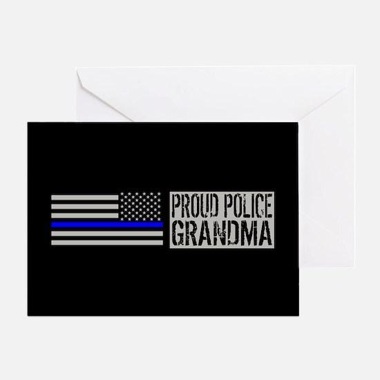 Police: Proud Grandma (Black Flag, B Greeting Card