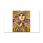 Mardi Gras Mask and Beautiful Woman Car Magnet 20