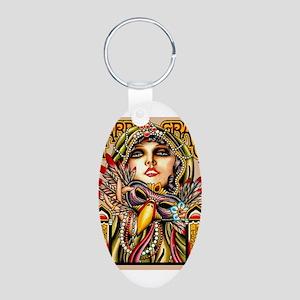 Mardi Gras Mask and Beautiful Woman Keychains