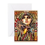 Mardi Gras Mask and Beautiful Woman Greeting Cards