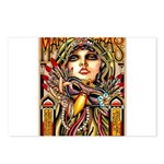 Mardi Gras Mask and Beautiful Woman Postcards (Pac