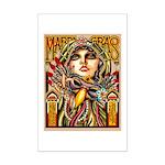 Mardi Gras Mask and Beautiful Woman Poster Print