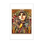 Mardi Gras Mask and Beautiful Woman Poster Print