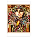 Mardi Gras Mask and Beautiful Woman Poster