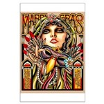 Mardi Gras Mask and Beautiful Woman Poster