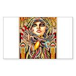 Mardi Gras Mask and Beautiful Woman Sticker