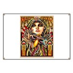 Mardi Gras Mask and Beautiful Woman Banner
