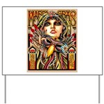 Mardi Gras Mask and Beautiful Woman Yard Sign