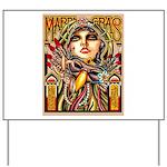 Mardi Gras Mask and Beautiful Woman Yard Sign